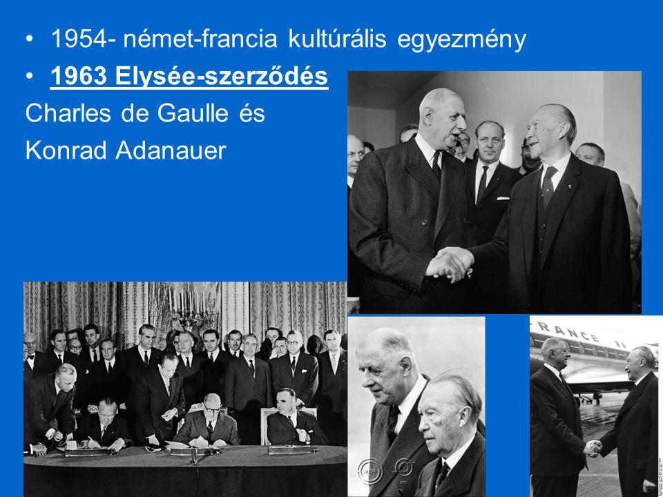 1954- német-francia kultúrális egyezmény