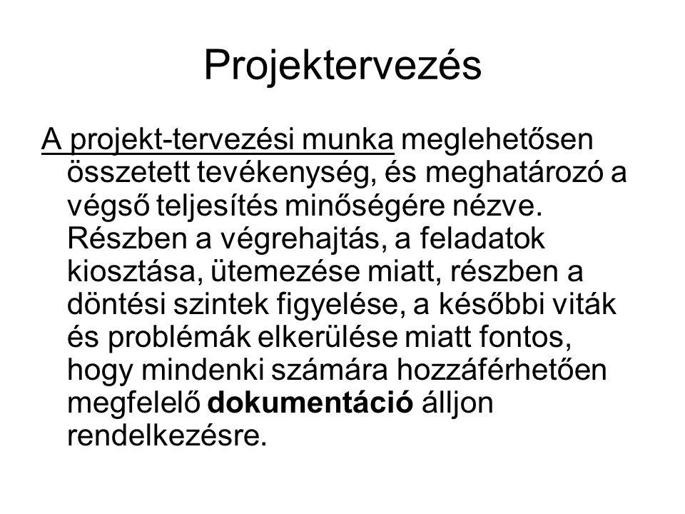 Projektervezés