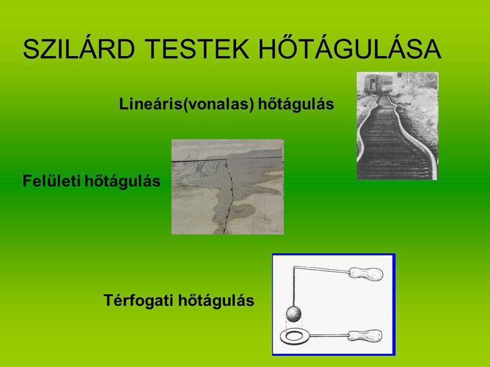 SZILÁRD TESTEK HŐTÁGULÁSA