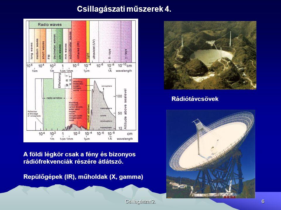 Csillagászati műszerek 4.