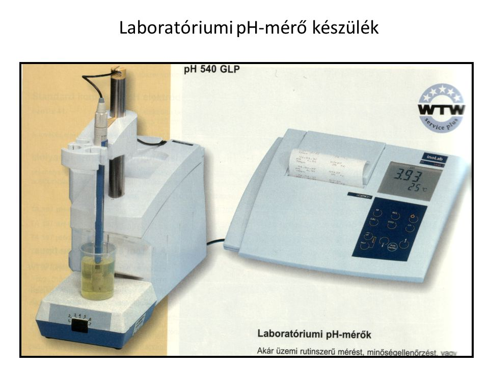 Laboratóriumi pH-mérő készülék