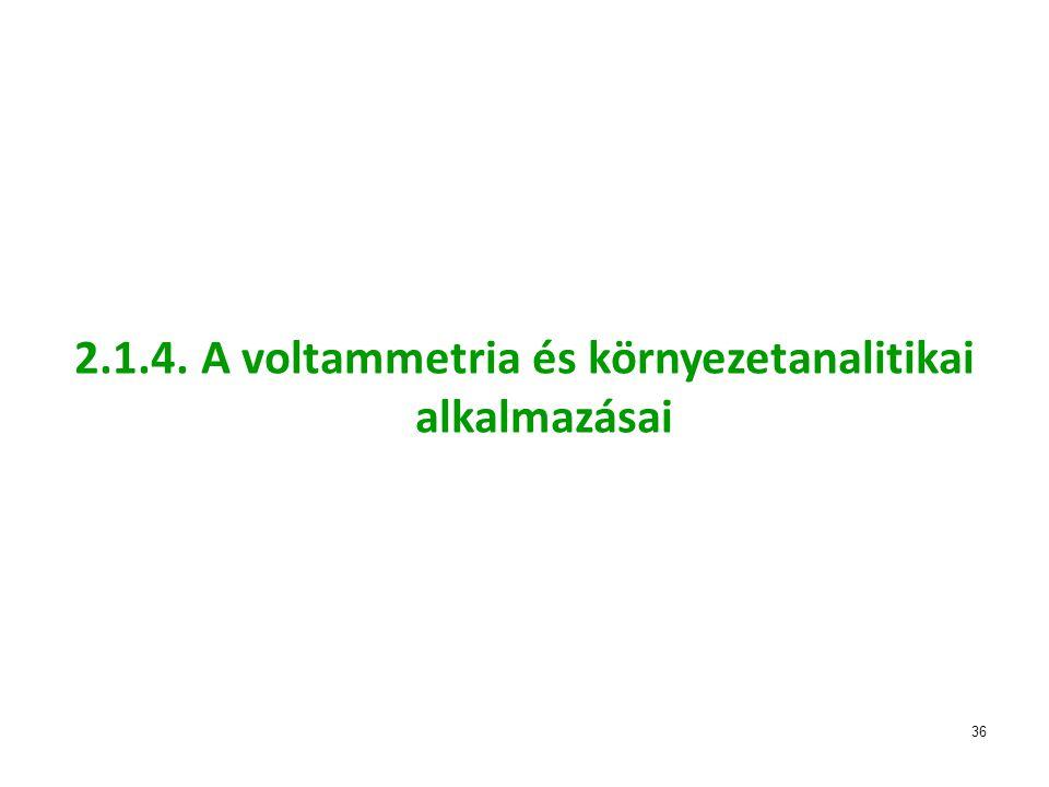 2.1.4. A voltammetria és környezetanalitikai alkalmazásai