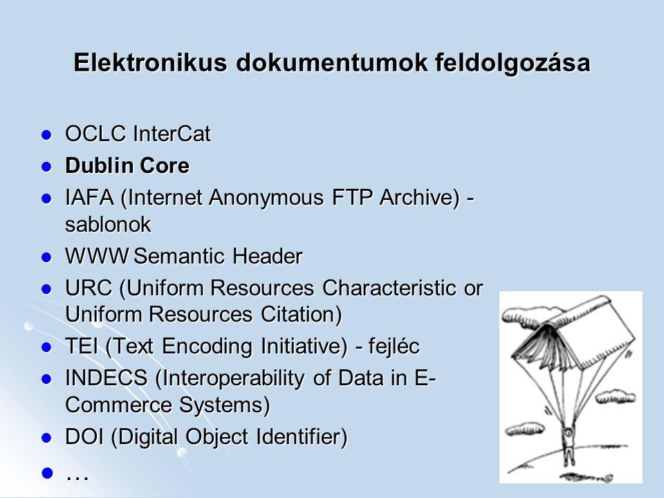 Elektronikus dokumentumok feldolgozása