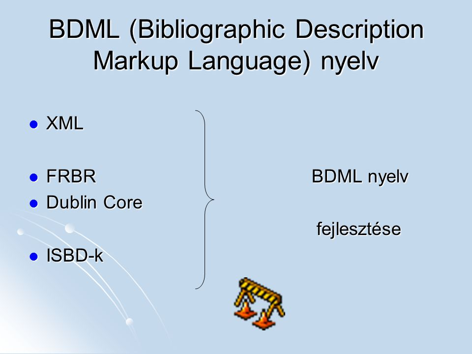 BDML (Bibliographic Description Markup Language) nyelv