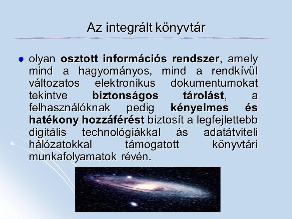 Az integrált könyvtár
