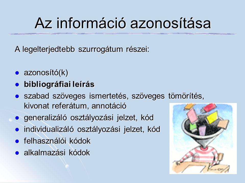 Az információ azonosítása
