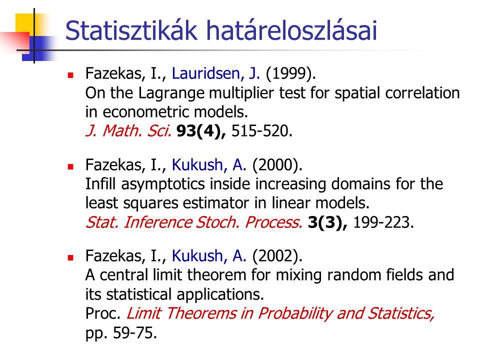 Statisztikák határeloszlásai