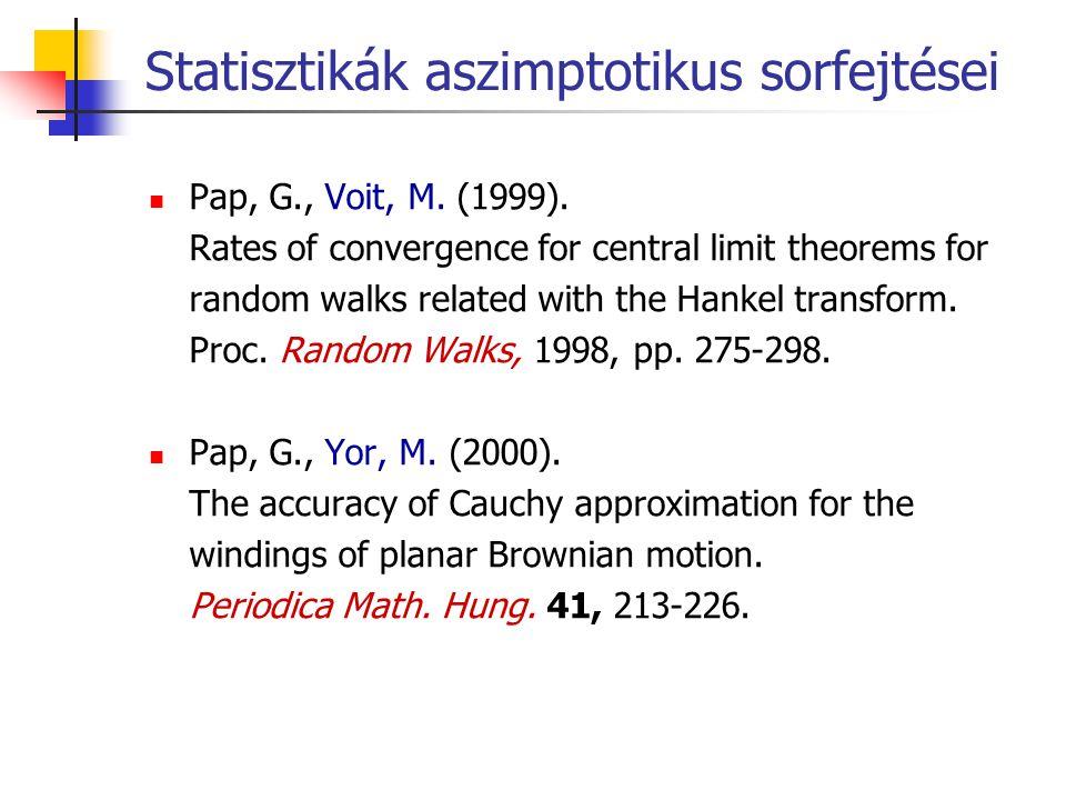 Statisztikák aszimptotikus sorfejtései