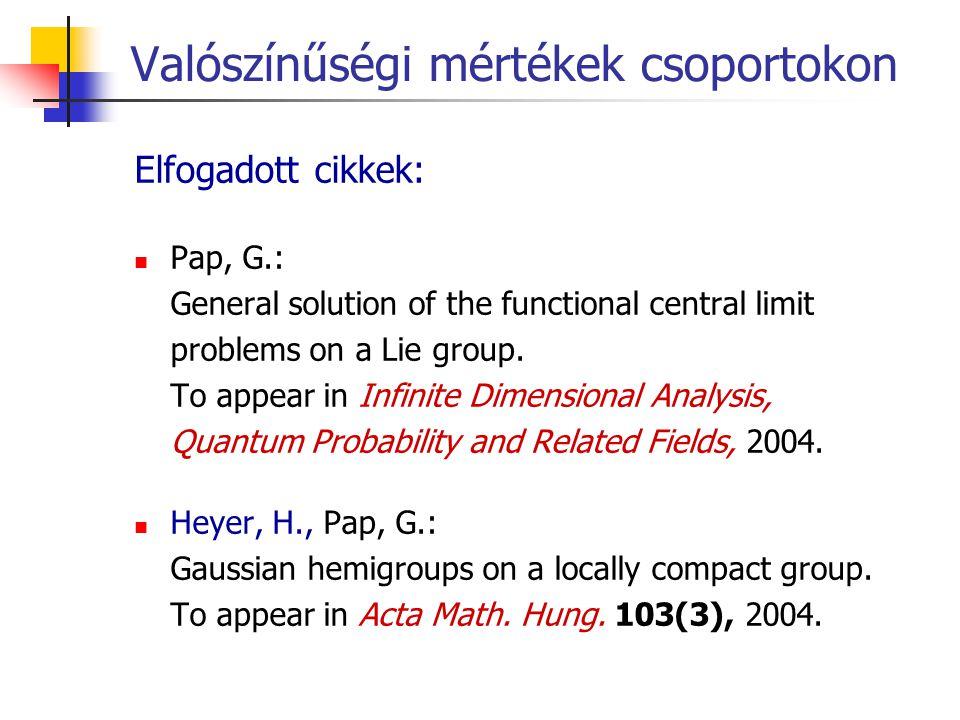 Valószínűségi mértékek csoportokon