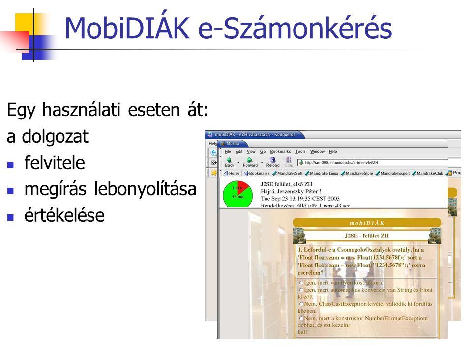MobiDIÁK e-Számonkérés