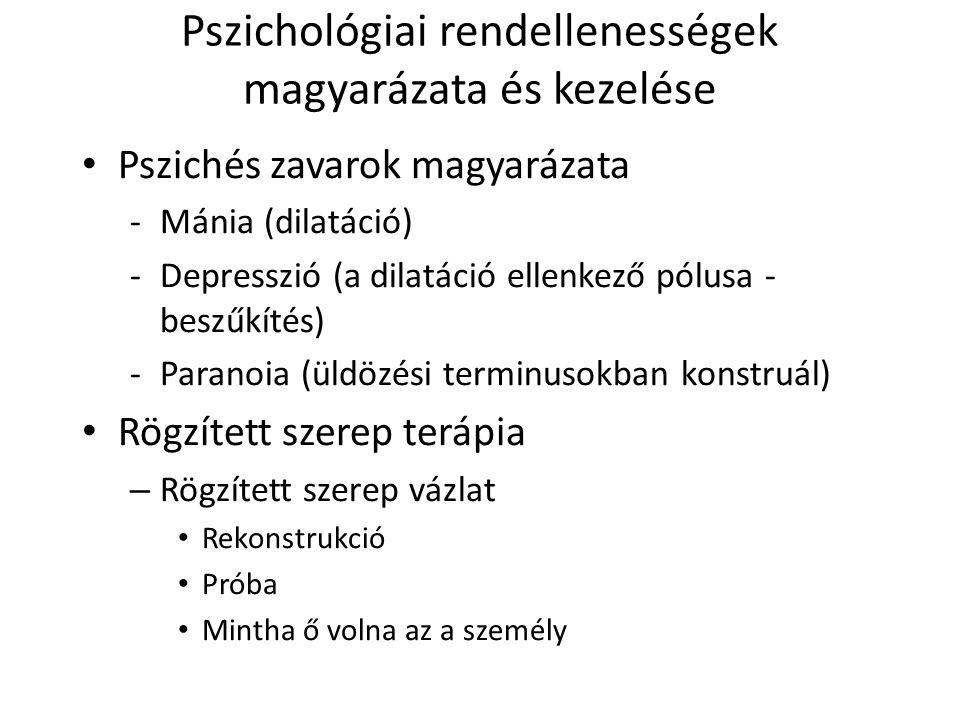 Pszichológiai rendellenességek magyarázata és kezelése