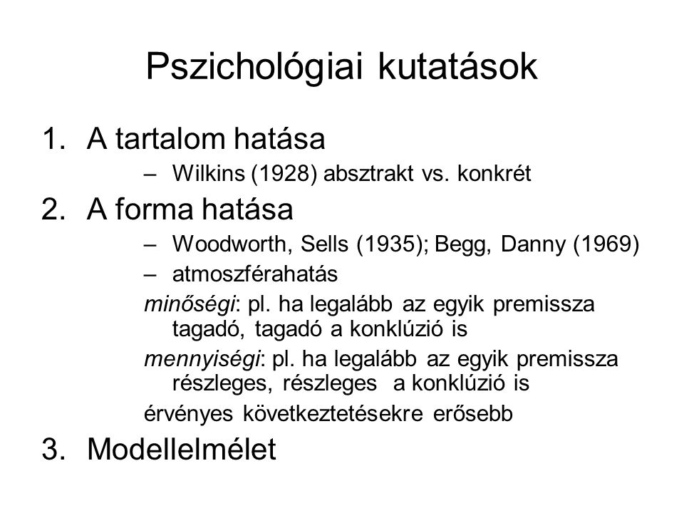 Pszichológiai kutatások