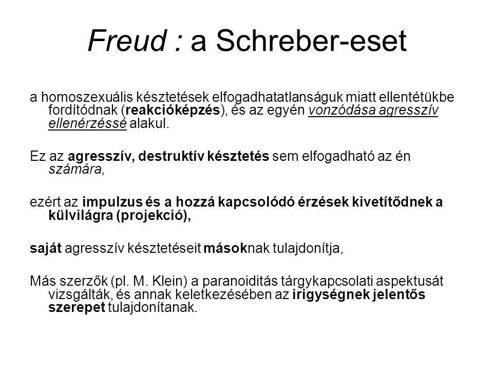 Freud : a Schreber-eset