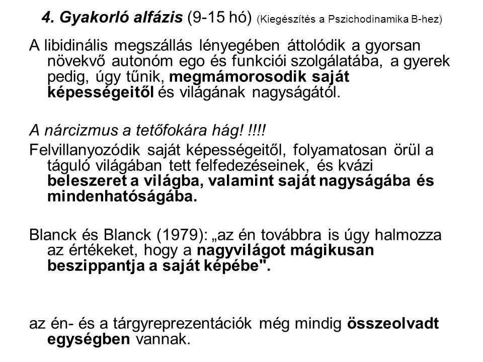 4. Gyakorló alfázis (9-15 hó) (Kiegészítés a Pszichodinamika B-hez)