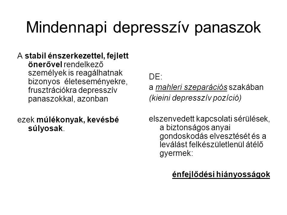 Mindennapi depresszív panaszok