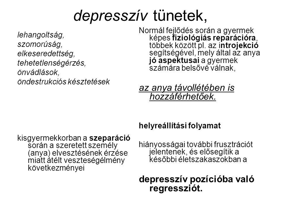 depresszív tünetek, az anya távollétében is hozzáférhetőek.