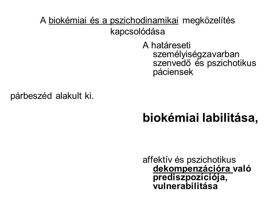 A biokémiai és a pszichodinamikai megközelítés kapcsolódása