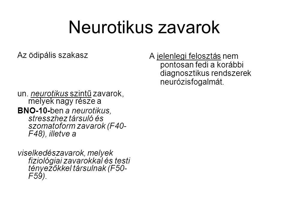 Neurotikus zavarok Az ödipális szakasz