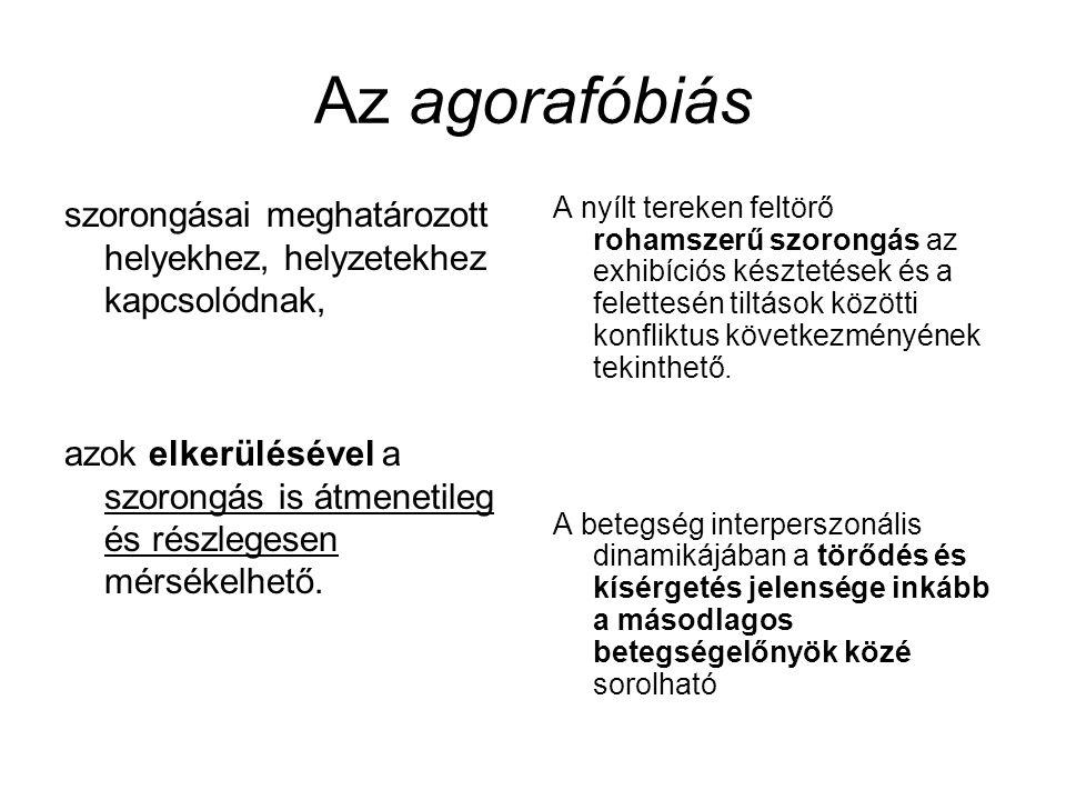 Az agorafóbiás szorongásai meghatározott helyekhez, helyzetekhez kapcsolódnak,