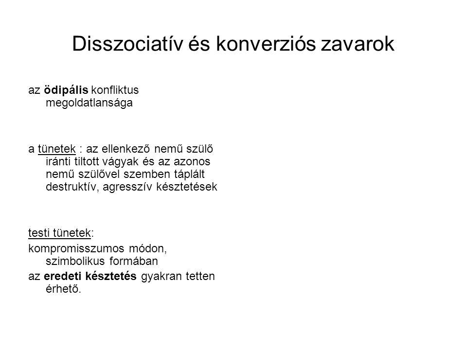 Disszociatív és konverziós zavarok