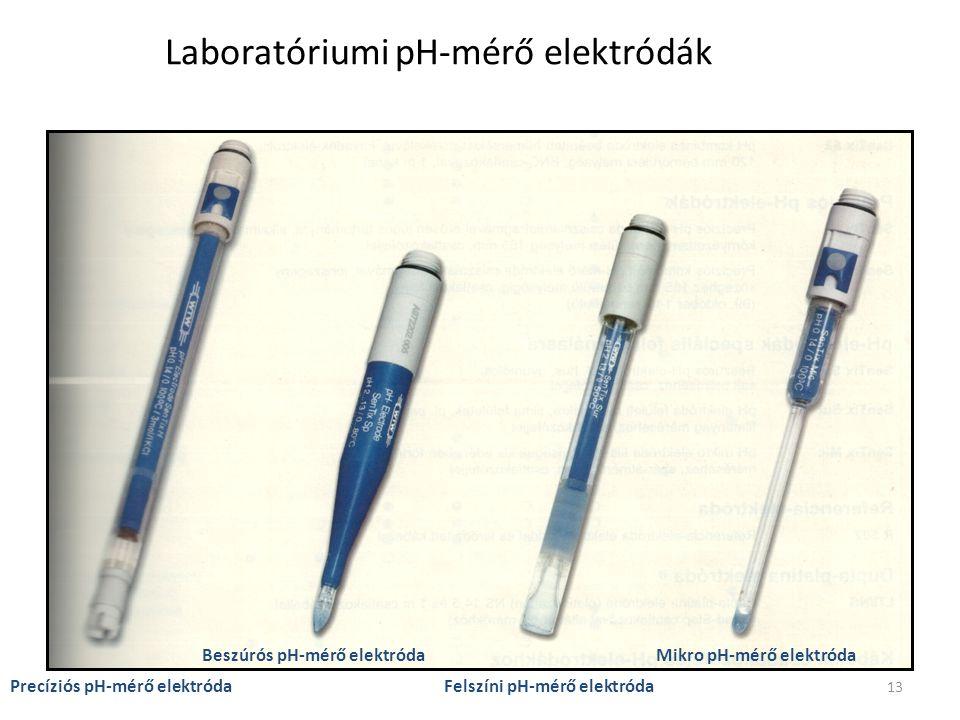 Laboratóriumi pH-mérő elektródák