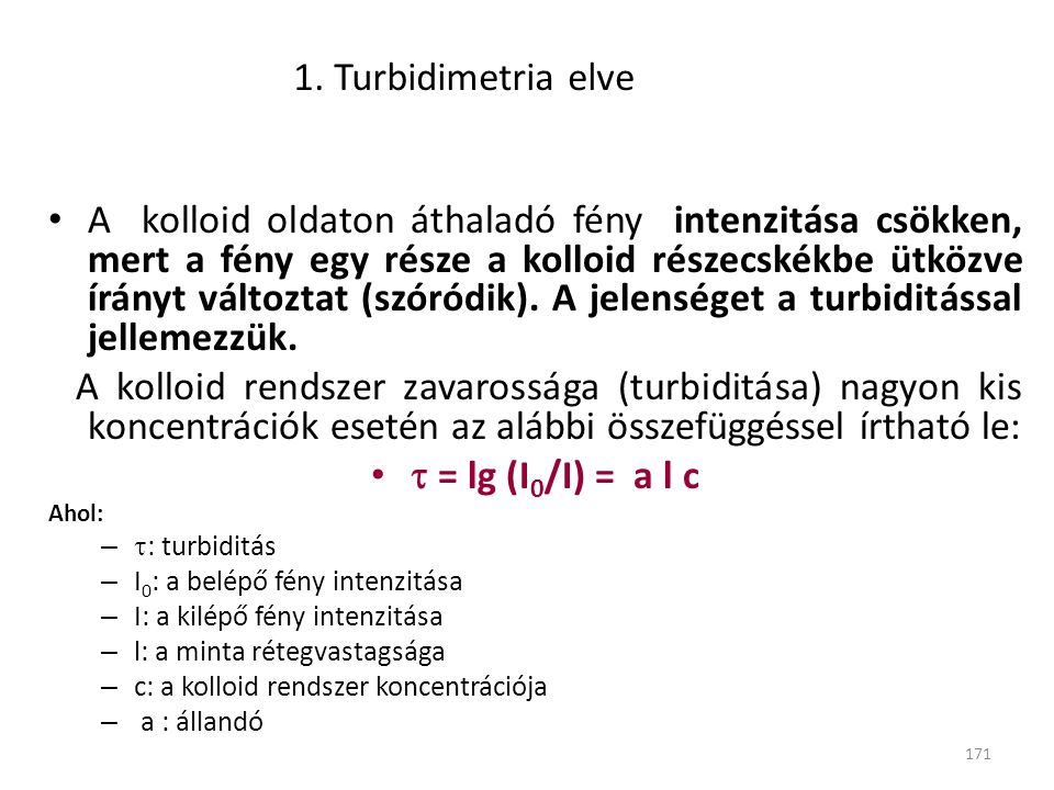 1. Turbidimetria elve