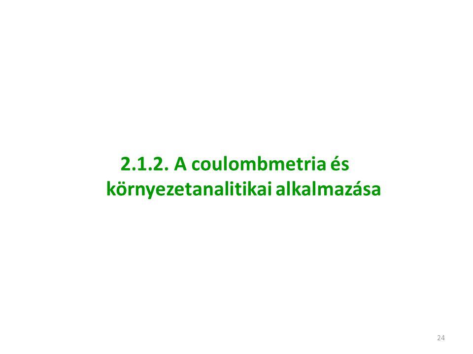 2.1.2. A coulombmetria és környezetanalitikai alkalmazása