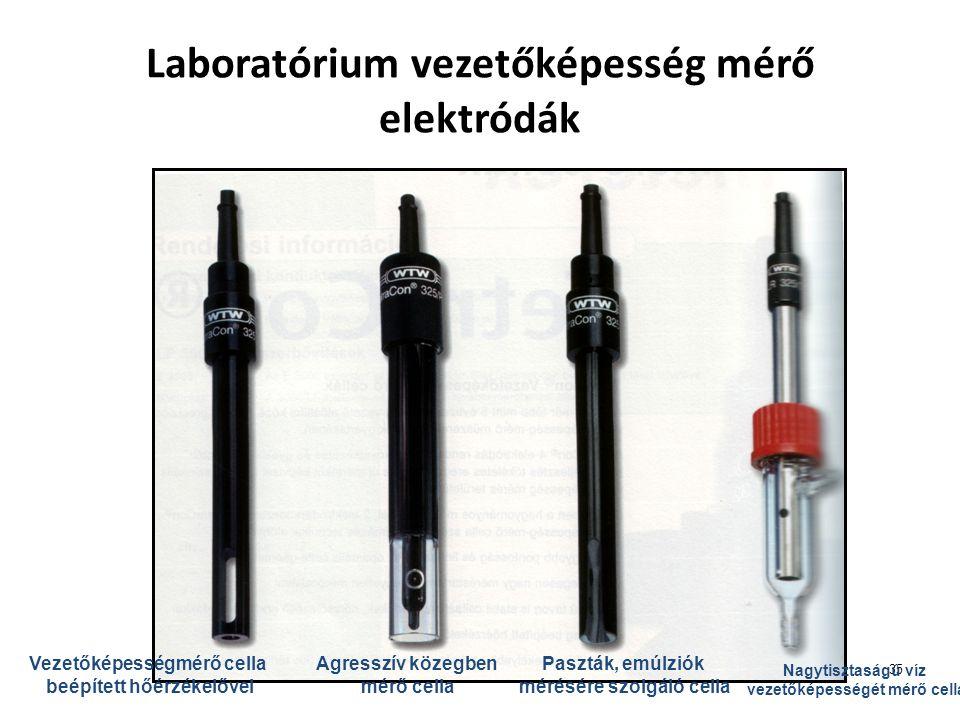 Laboratórium vezetőképesség mérő elektródák
