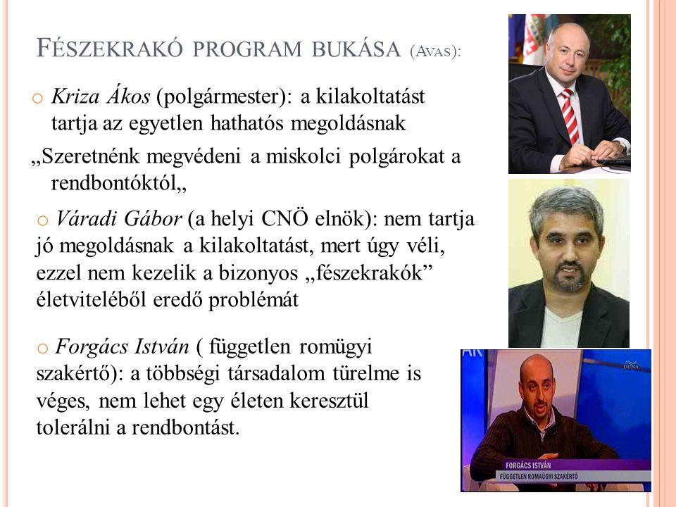 Fészekrakó program bukása (Avas):