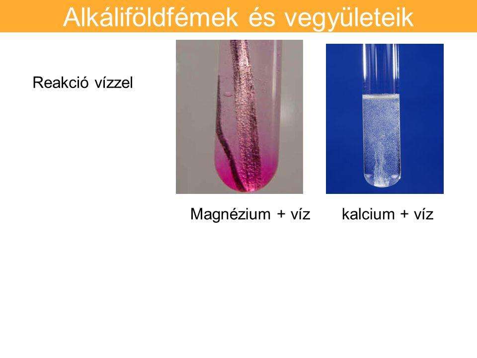 Alkáliföldfémek és vegyületeik