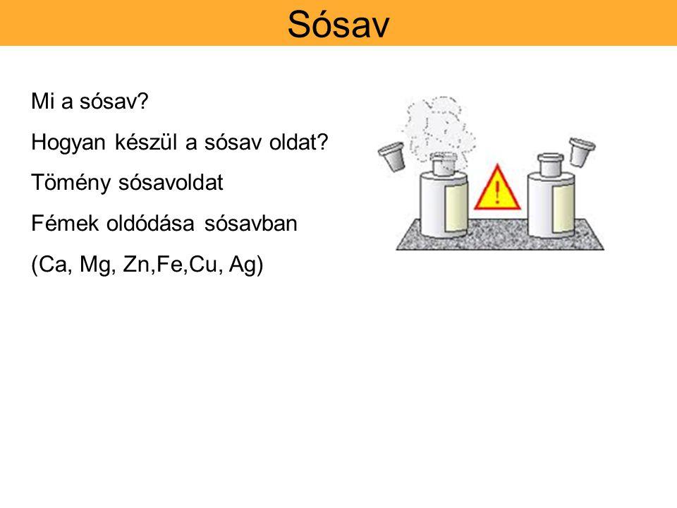 Sósav Mi a sósav Hogyan készül a sósav oldat Tömény sósavoldat
