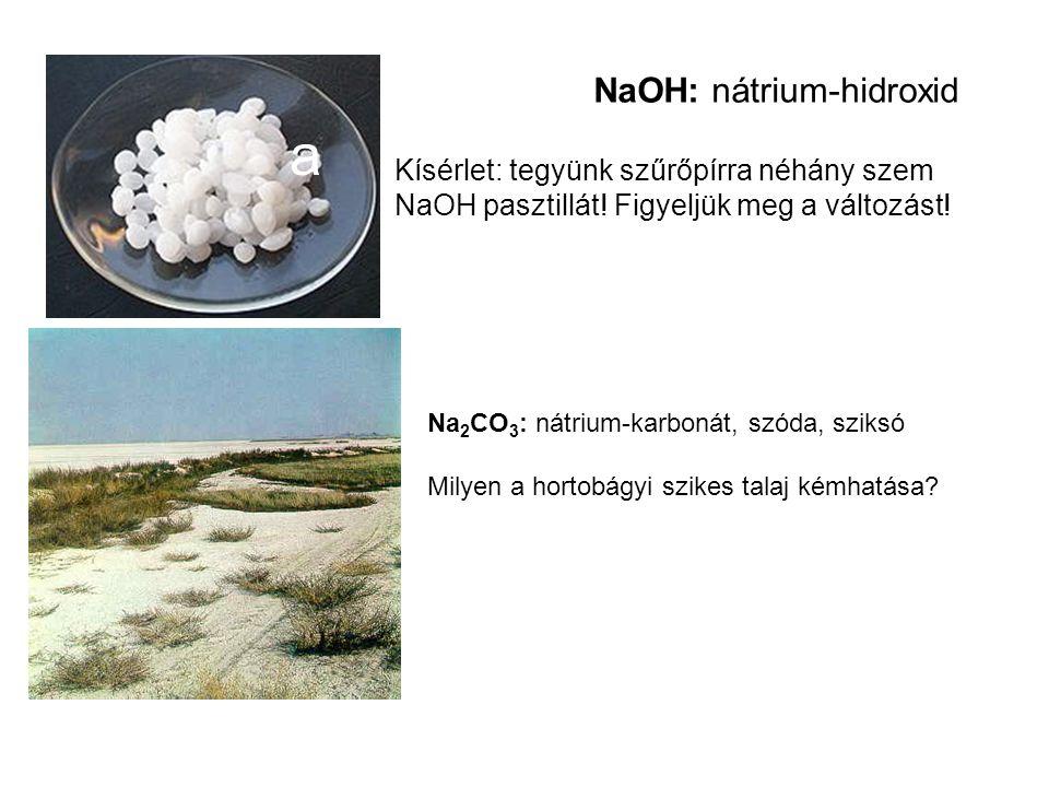 NaOH: nátrium-hidroxid
