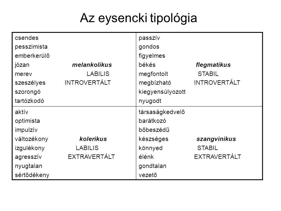 Az eysencki tipológia csendes pesszimista emberkerülő