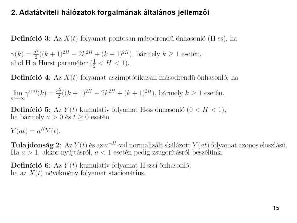 2. Adatátviteli hálózatok forgalmának általános jellemzői