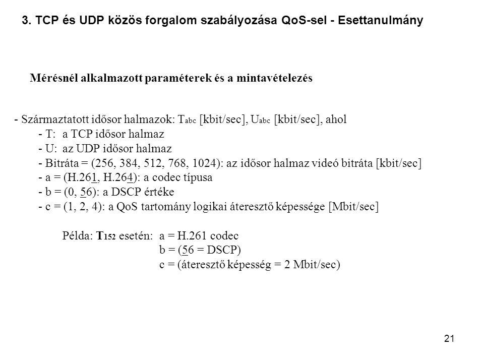 3. TCP és UDP közös forgalom szabályozása QoS-sel - Esettanulmány