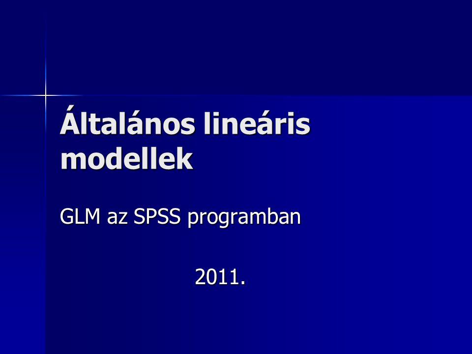 Általános lineáris modellek