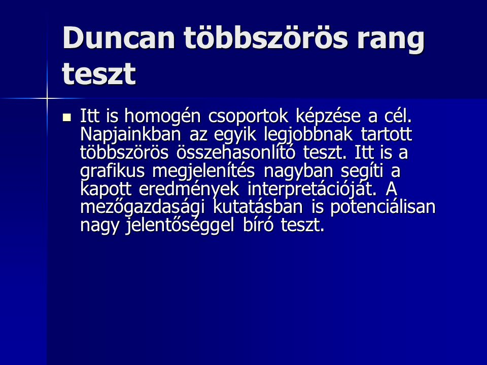 Duncan többszörös rang teszt