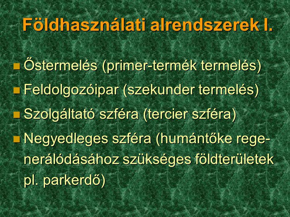 Földhasználati alrendszerek I.