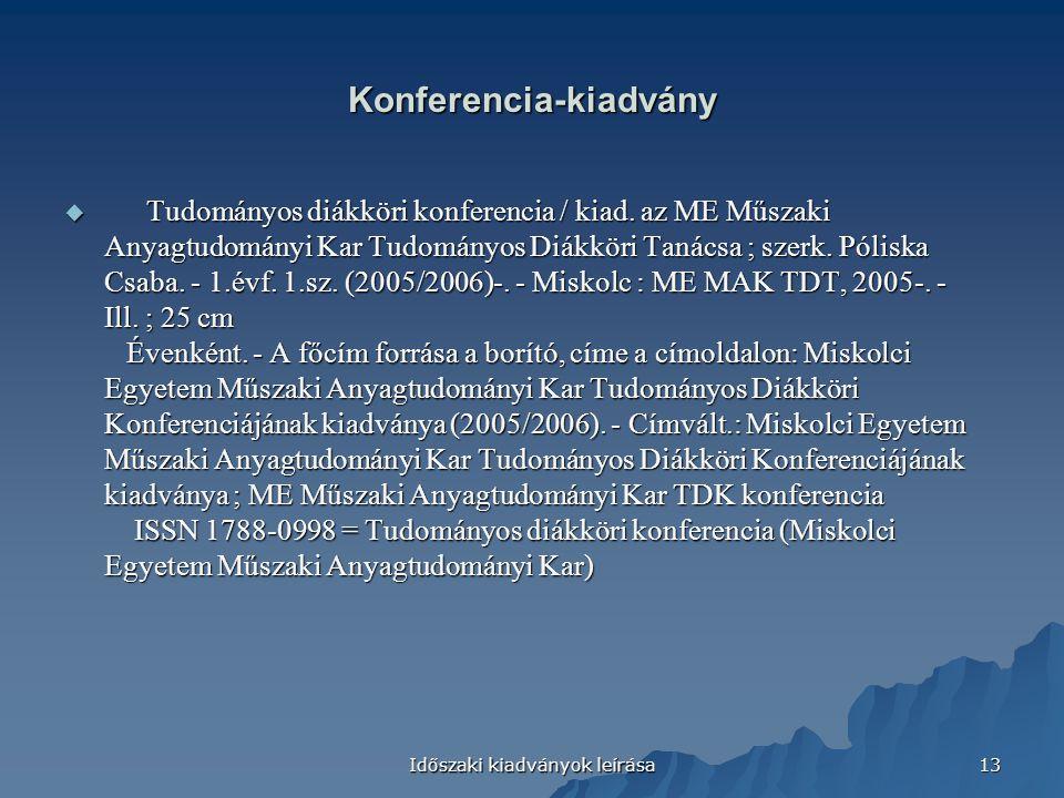 Konferencia-kiadvány