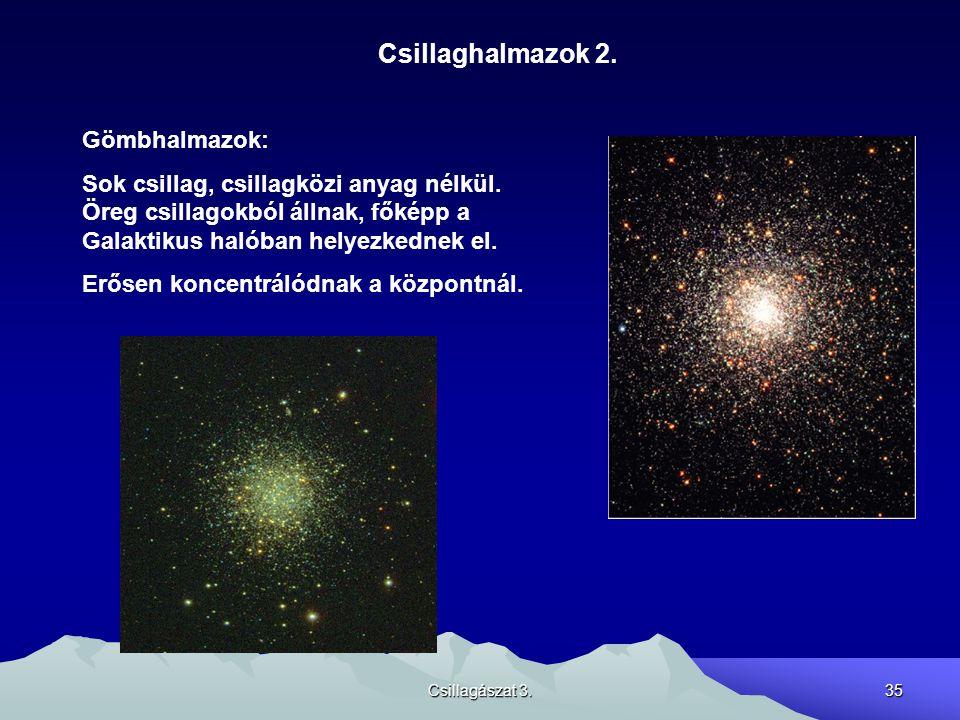 Csillaghalmazok 2. Gömbhalmazok: