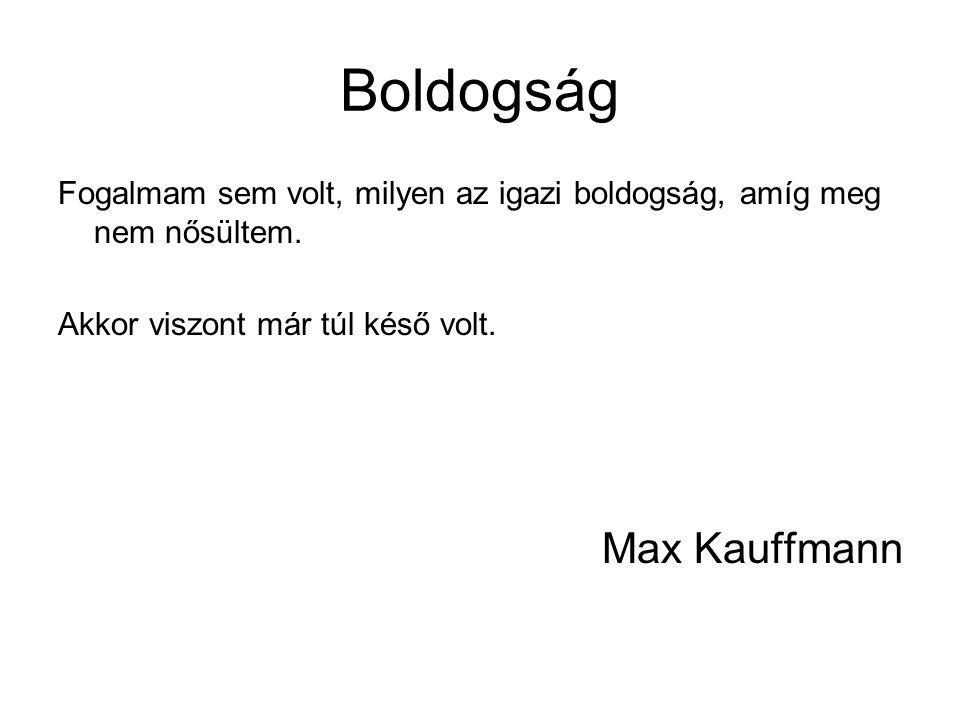 Boldogság Max Kauffmann