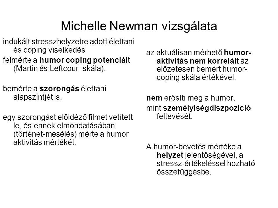 Michelle Newman vizsgálata