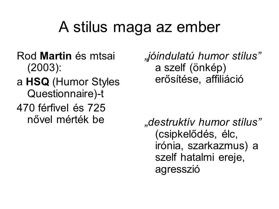 A stilus maga az ember Rod Martin és mtsai (2003):