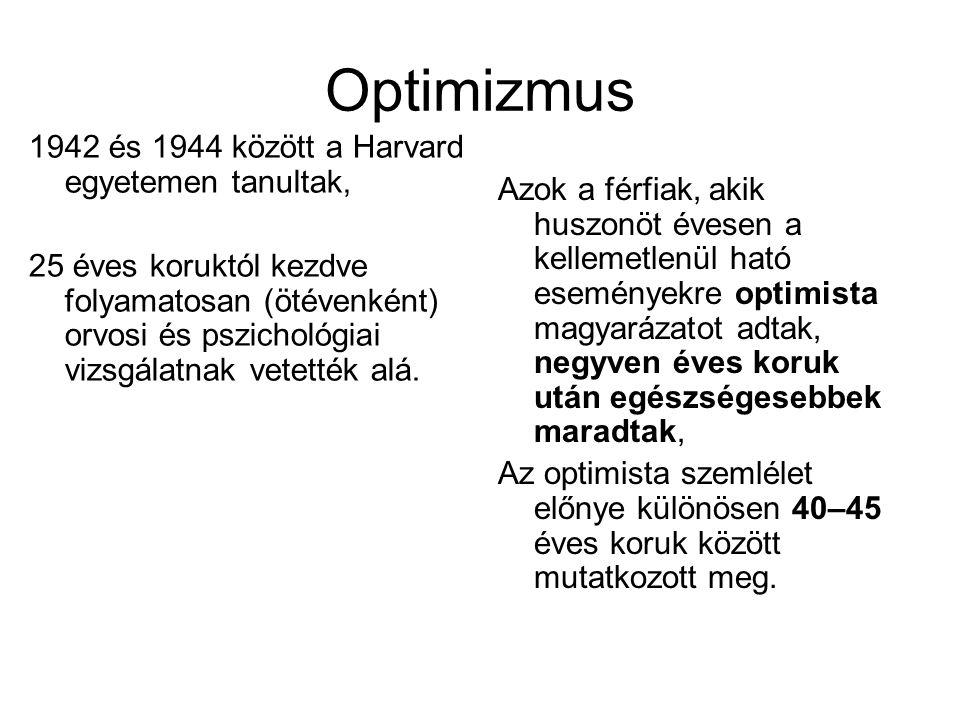 Optimizmus 1942 és 1944 között a Harvard egyetemen tanultak,