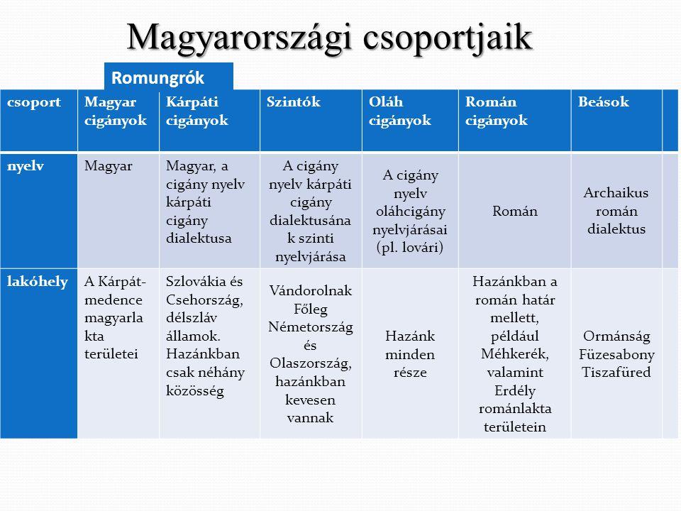 Magyarországi csoportjaik