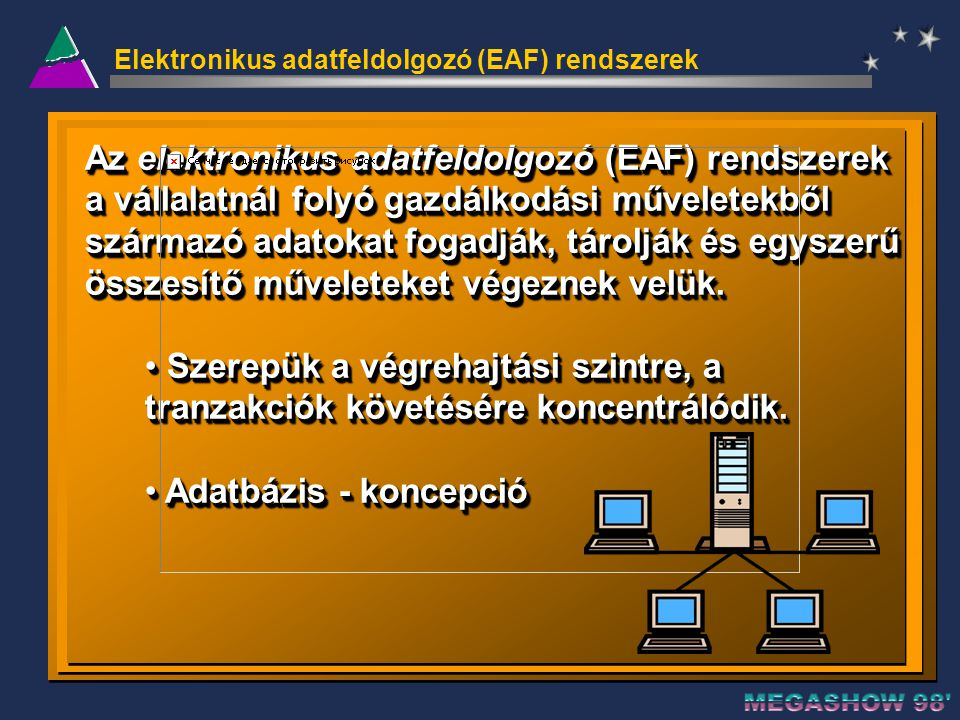 Elektronikus adatfeldolgozó (EAF) rendszerek