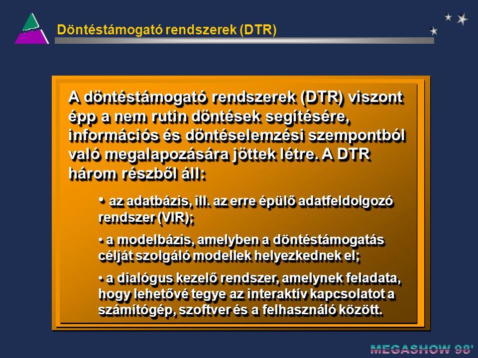 Döntéstámogató rendszerek (DTR)