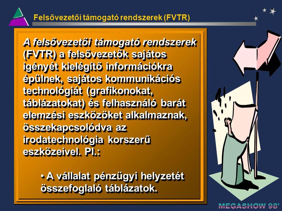 Felsővezetői támogató rendszerek (FVTR)