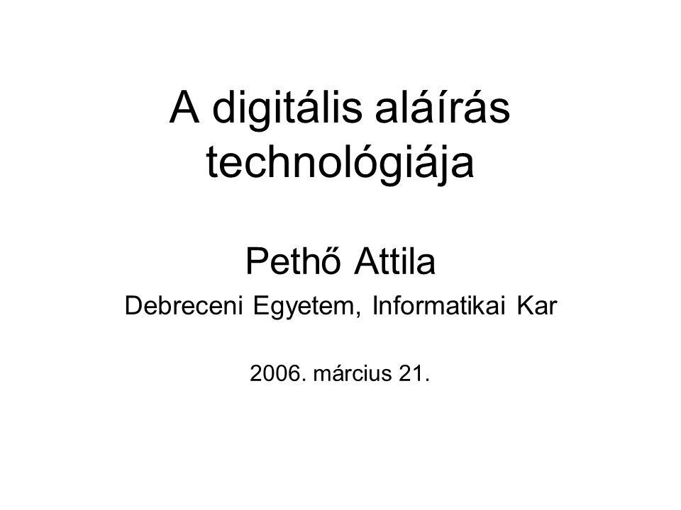 A digitális aláírás technológiája
