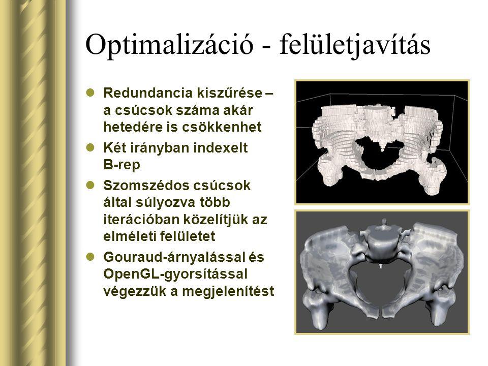 Optimalizáció - felületjavítás